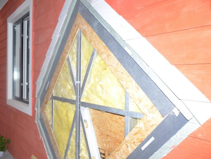 轻钢别墅墙面框架填充辅材